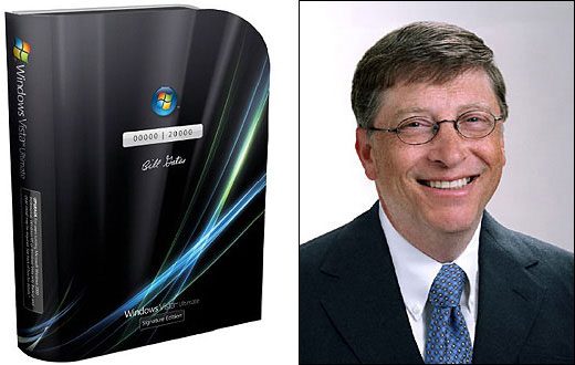 Bill Gates Signed Windows Vista